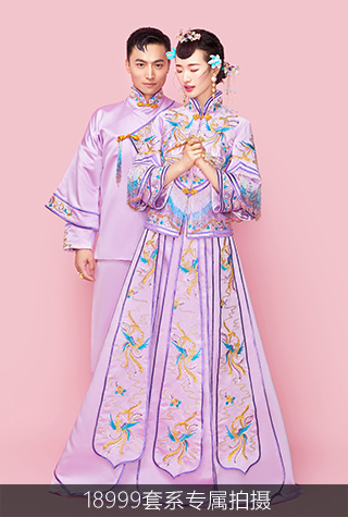 高端中式婚纱照